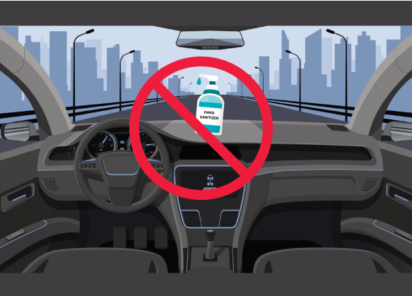 Can I keep my hand sanitizer in my car?