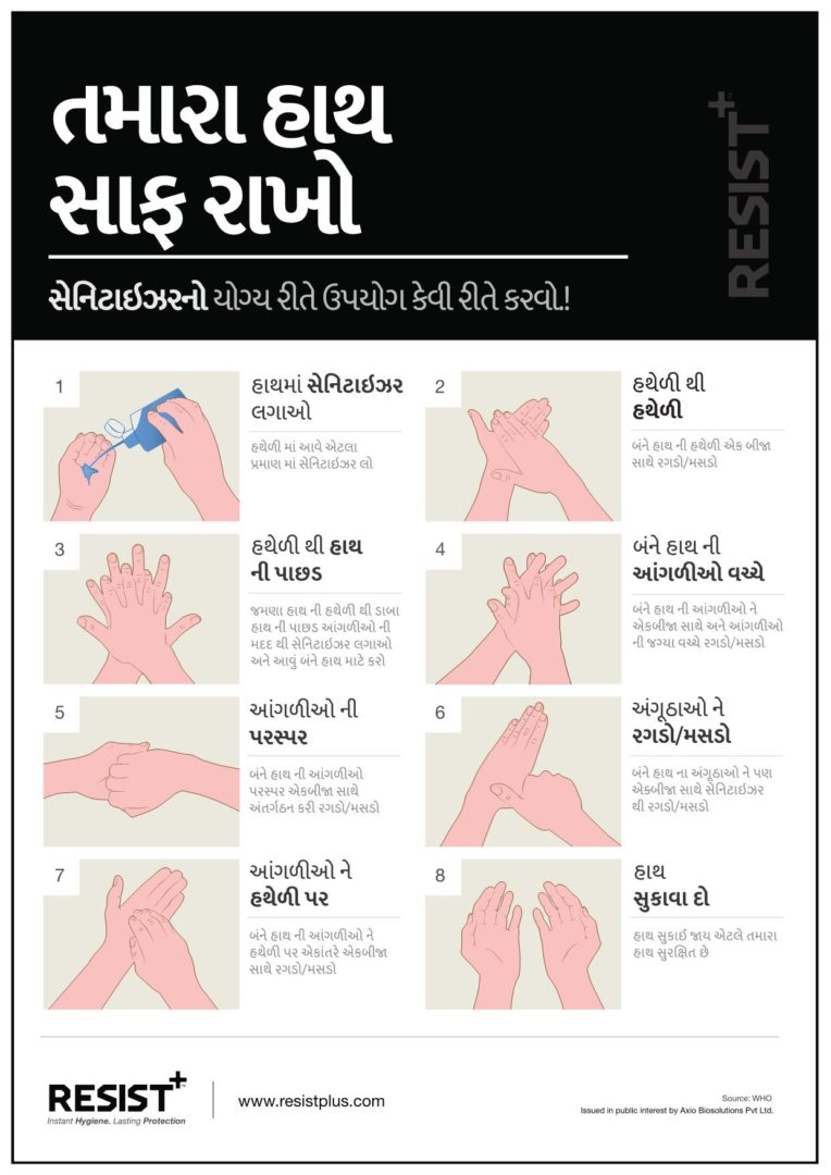 RESIST+ | How to use hand sanitizer properly | Gujarati