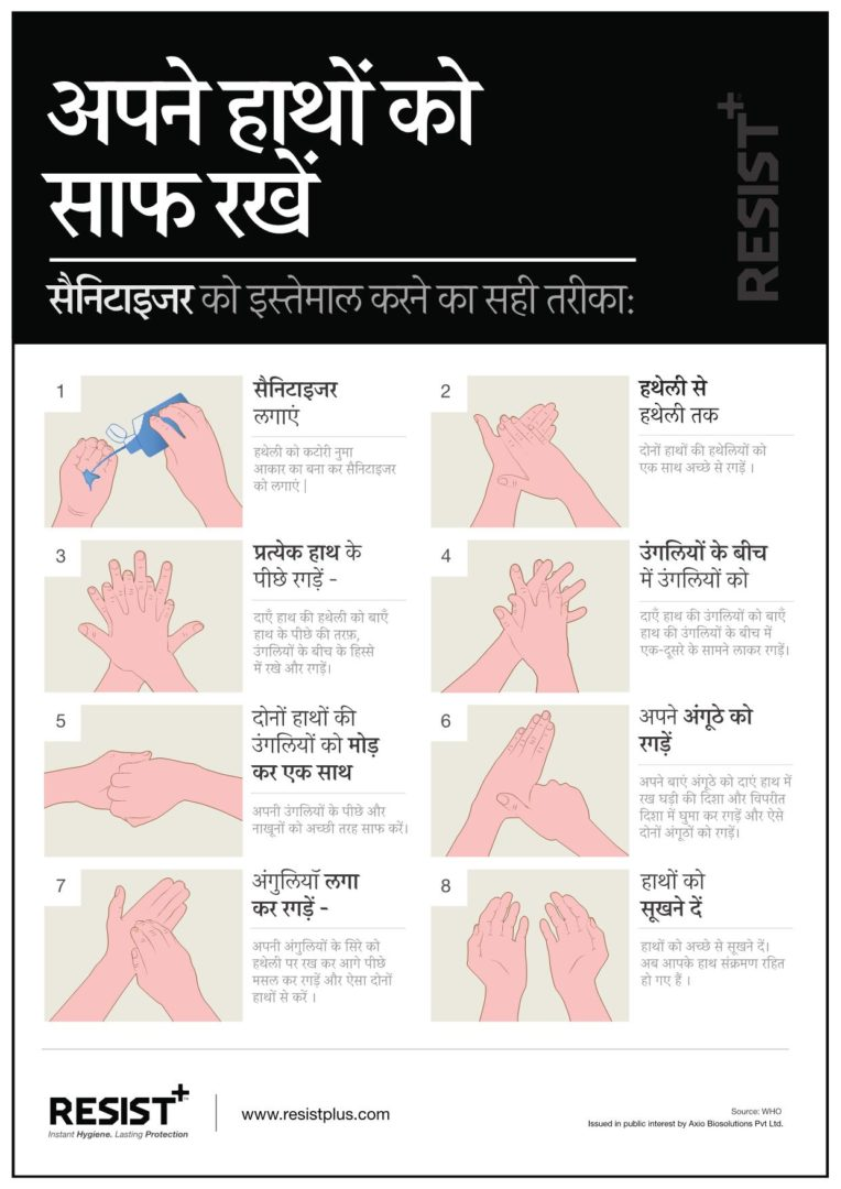 RESIST+ | How to use hand sanitizer properly | Hindi