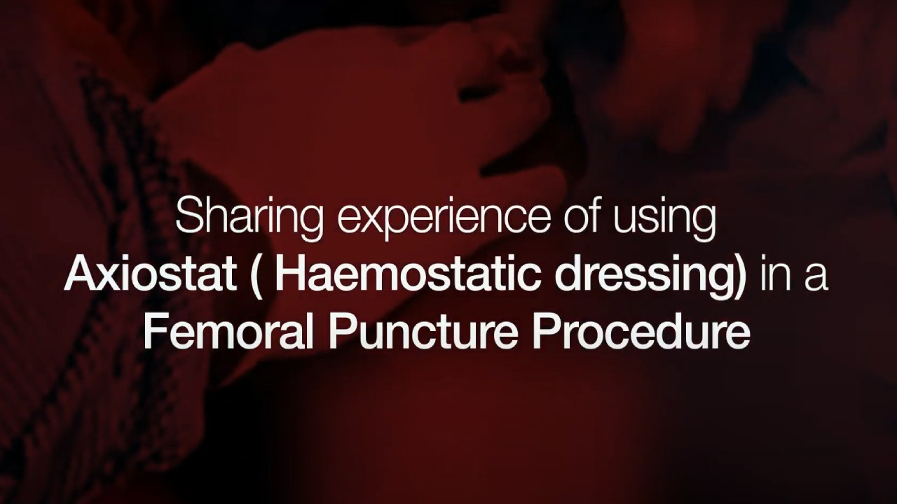 Axiostat-haemostatic-Dressing-in-a-femoral-Puncture-Procedure